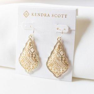 Kendra Scott Addie Drop Earrings Gold Filigree